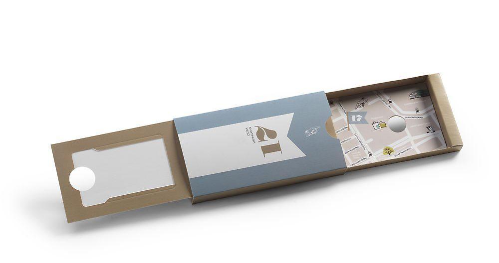 Slideförpackning med unik design - här med karta