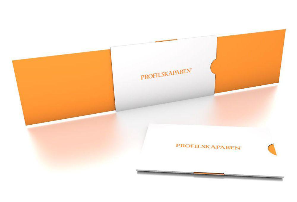 Förpackning kort med eget tryck