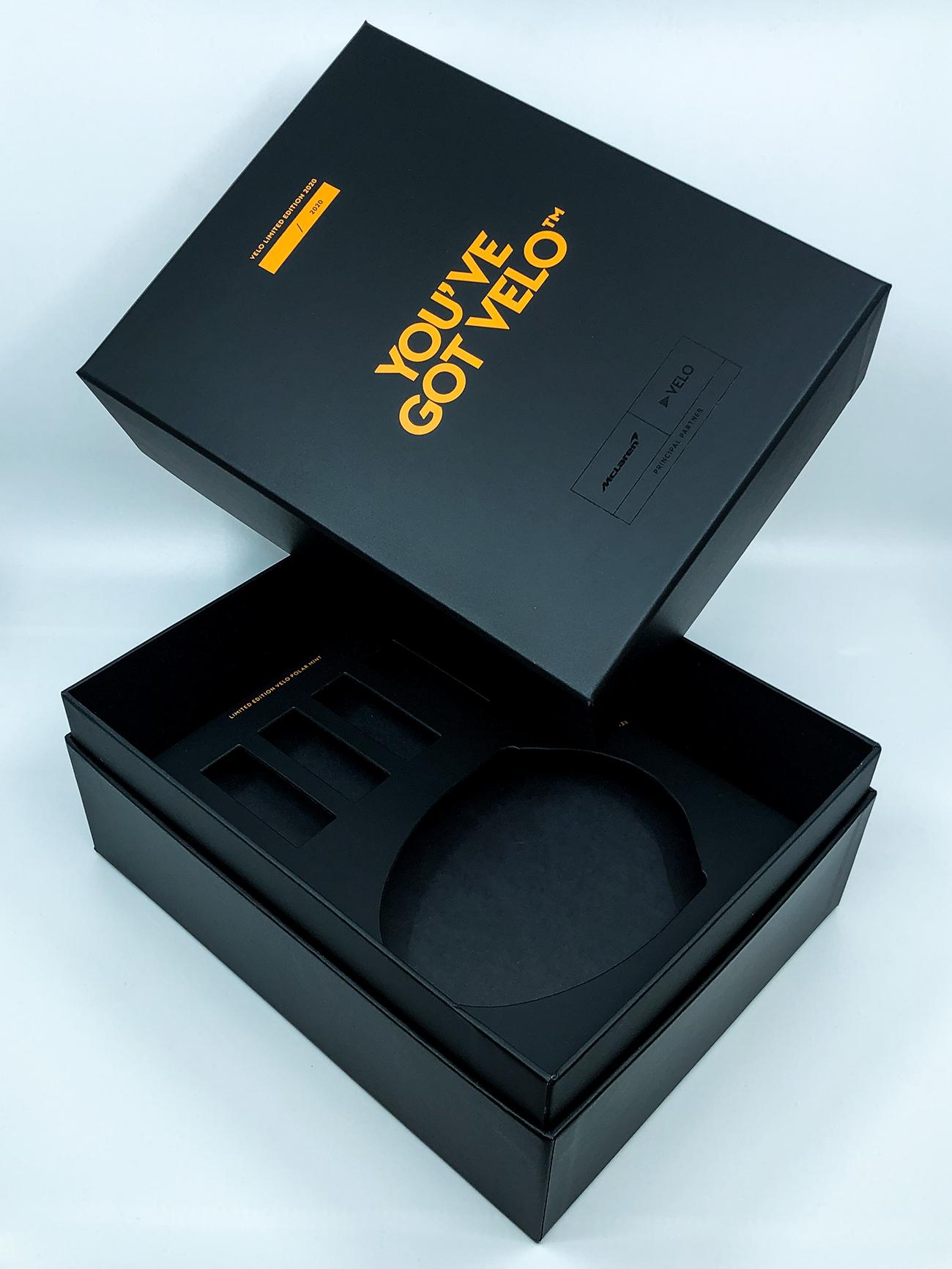 McLaren-Velo låda med egen design