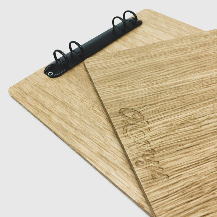 Beställd Menyplatta i trä